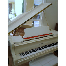 Baldwin 5 Foot White Grand with Player $4,995