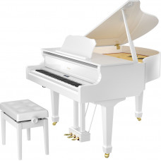 Roland GP-609 Highly Polished White Finish